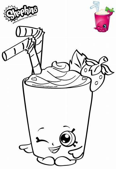 Coloring Smoothie Shopkins Strawberry Toys Pages Moose