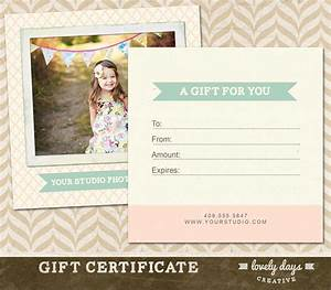 Photography Gift Certificate Template for by ...