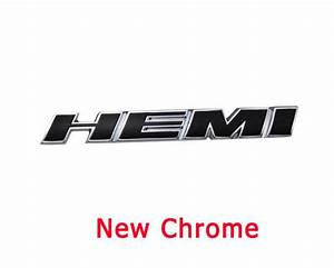 New Black Hood Mopar HEMI EMBLEM Badge Sticker for Dodge ...