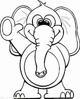 Elephant Coloring Pages Circus Waving Elephants Colouring Hand Through Printable Sheets Teaching Baby Youth Colour Books sketch template