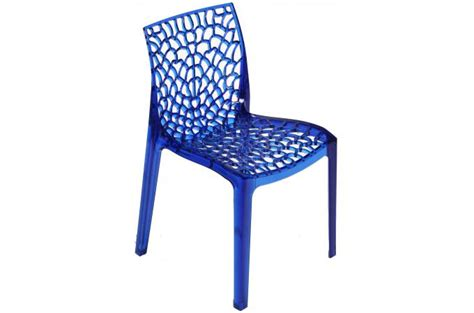 chaise gruyer chaise design transparente bleue gruyer transparent