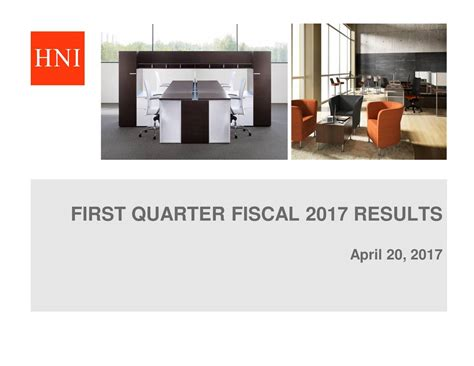 HNI Corporation 2017 Q1 - Results - Earnings Call Slides ...
