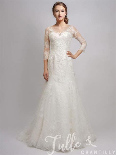 Gorgeous Elegant Vintage Long Sleeves Wedding Dress And