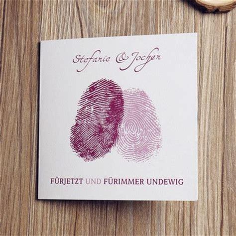 hochzeit fingerabdruck herz kreative fingerabdruck herz einladungskarten opl014 neue