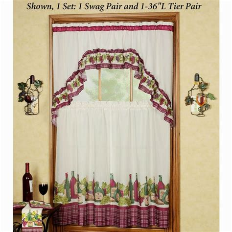 Grape Wine Kitchen Curtains by 18 Best Images About Kitchen Curtain On