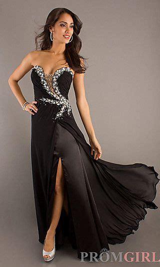 Long Strapless Open Back Formal Dress at PromGirl.com ...