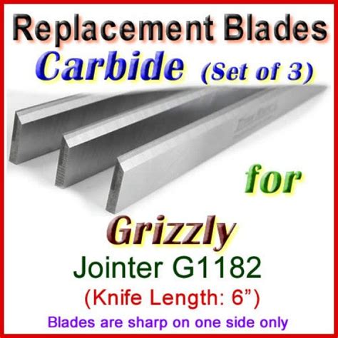 set   carbide blades  grizzly  jointer