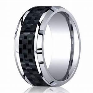 8mm men39s designer cobalt chrome wedding ring w carbon With cobalt chrome men s wedding rings