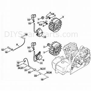 Stihl Ms 250 Chainsaw  Ms250 C  Parts Diagram  Ignition System