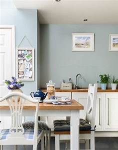 blue kitchen decor ideas home design With kitchen colors with white cabinets with blue and brown wall art
