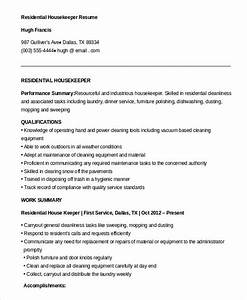 housekeeping resume example 9 free word pdf documents With free housekeeping resume