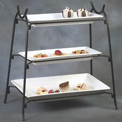 american metalcraft   tier wrought iron stand tiered serving trays zescocom