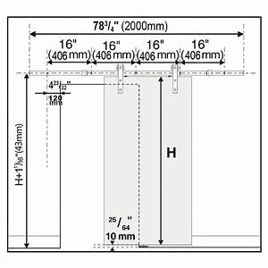 6 6ft No Joint Sliding Barn Door Hardware Track Rail Kit