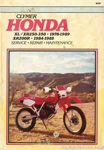 Used Clymer Honda Xl Xr250 Xl Xr350r Xr 200r Repair Manual