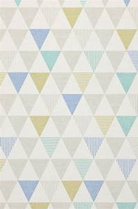Papier Peint Motif Geometrique : zenem blanc gris bleu gris jaune vert chatoyant ~ Dailycaller-alerts.com Idées de Décoration