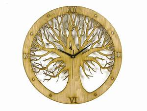 Tree Design Laser Cut Clock