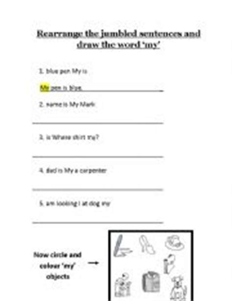 jumbled sentences worksheets