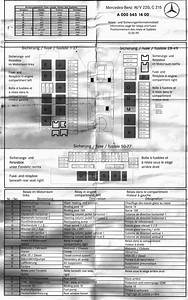 2003 Mercede C320 Fuse Diagram