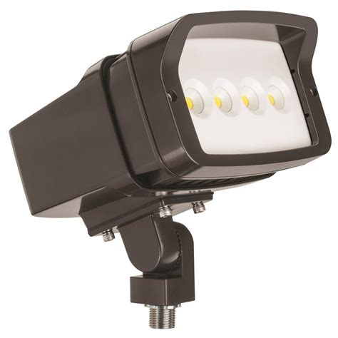 led outdoor flood lights lithonia lighting ofl1 led bronze outdoor 4000k flood