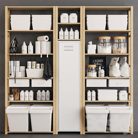 Ikea Ivar Badezimmer by Ivar Monotone Pantry Home In 2019 Ikea Laundry Room