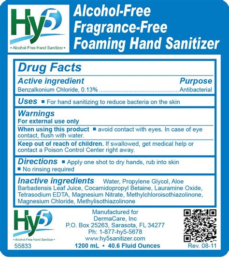 hy alcohol  fragrance  foaming hand sanitizer