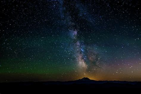 Mount Rainier The Milky Way Photograph Pelo