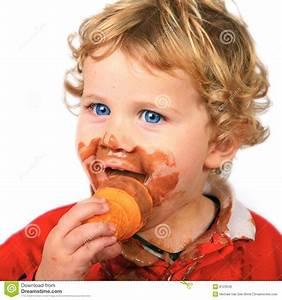 Yummy Ice Cream! stock photo. Image of messy, happiness ...