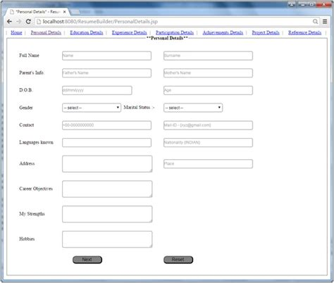 Resume Builder Application Project In Java by Simple Resume Builder Project In Java Techzoo