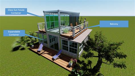 sale expandable container house  glass sun room