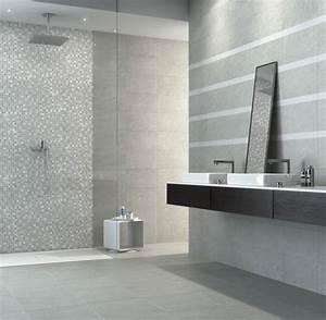 Carrelage Salle De Bain Couleur : enchanteur carrelage salle de bain gris galerie avec salle de bain avec carrelage gris photo ~ Melissatoandfro.com Idées de Décoration