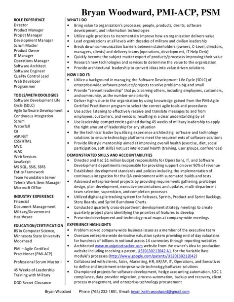 Software Development Manager Resume by Bryan Resume Software Development Manager