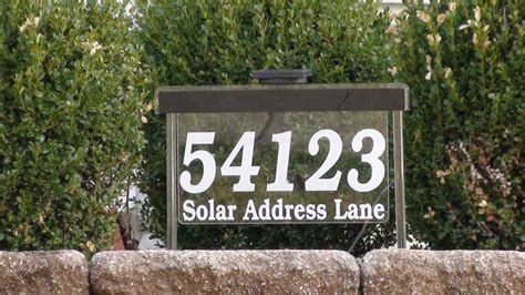 solar lighted address sign large
