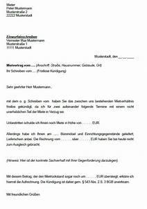 Außerordentliche Kündigung Mietvertrag : k ndigung mietvertrag vorlage k ndigung vorlage ~ Lizthompson.info Haus und Dekorationen