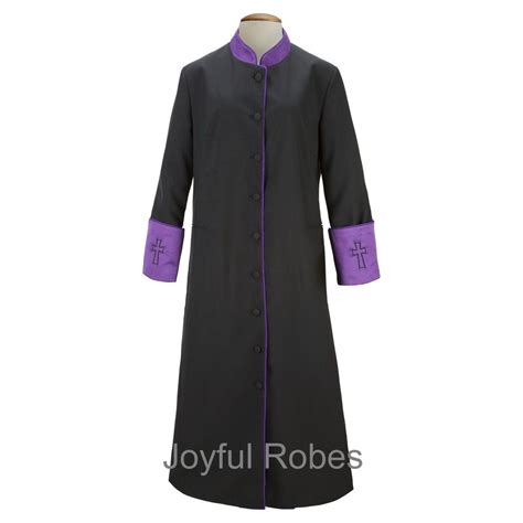 clergy robes  women womens blackpurple clergy robe