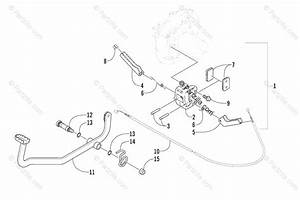 Arctic Cat Atv 2002 Oem Parts Diagram For Mechanical Brake