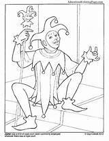 Jester Coloring Pages Clowns Printable Template Educationalcoloringpages sketch template