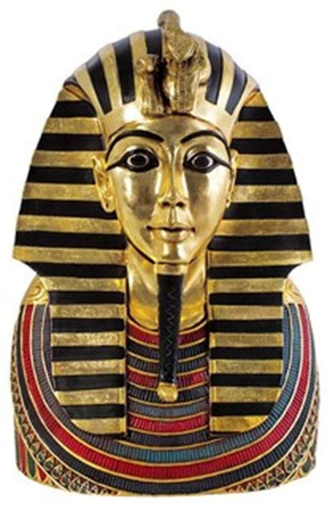 ancient egyptian sculpture king tut tutankhamen bust