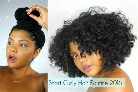 Short Curly Hair Routine 2016