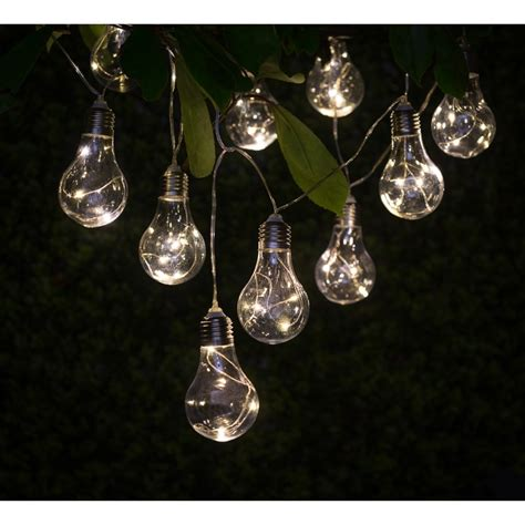 solar bulb string lights solar light bulb string lights 10pk garden lights b m