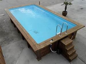 piscine bois 4m x 3m With piscine hors sol bois rectangulaire 3m 11 piscine hors sol 6m x 4m