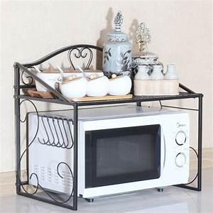 Etagere Micro Onde : beautiful fer rack de stockage de cuisine pour cuisine ~ Melissatoandfro.com Idées de Décoration