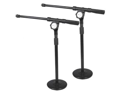 Podium Pro Ms4 Tabletop Boom Microphone Stands Adjustable