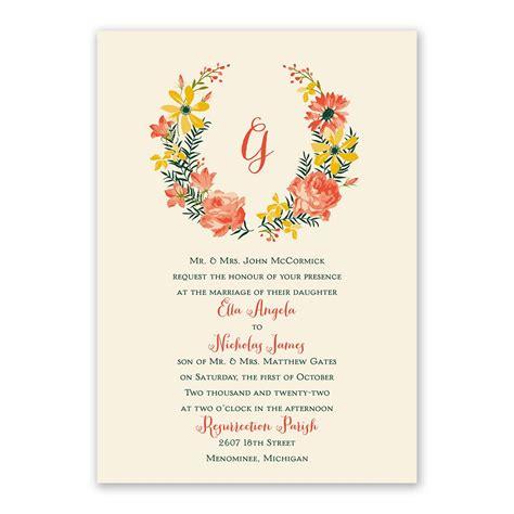 watercolor floral invitation   response postcard