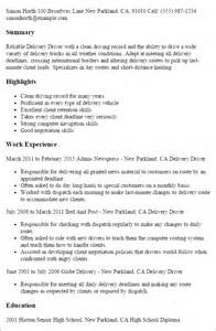 resume for driver deliveries professional delivery driver templates to showcase your talent myperfectresume