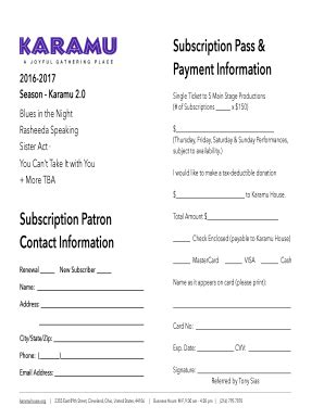 fillable subscription patron contact information 204 | 100843455