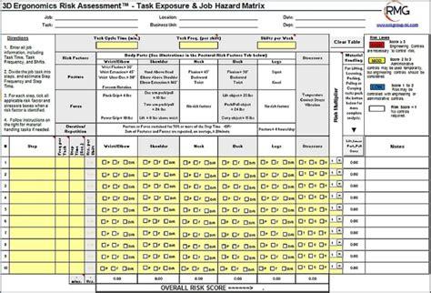 ergonomic assessment form  templates resume