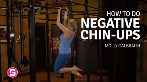 Chinup (negatives)  How To Do A Negative Chin Up  Youtube