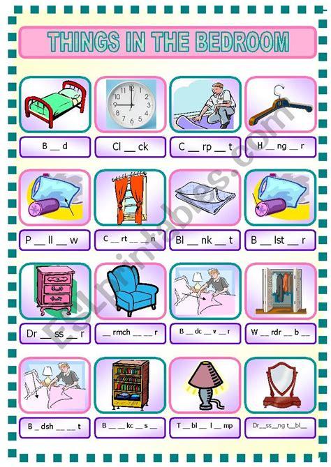Where The Things Are Bedroom by Things In Bedroom Esl Worksheet By Rhae