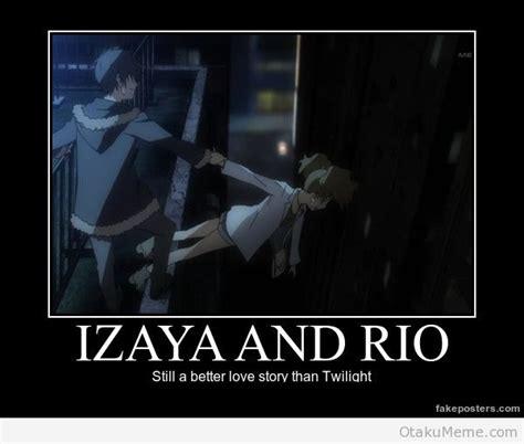 Durarara Meme - otaku meme 187 anime and cosplay memes 187 durarara izaya and rio