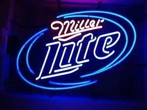 Miller Lite TIN SIGN beer metal bar logo pub pool 1080 on